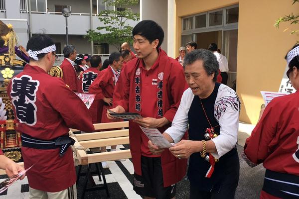 8/20(土) 幸区小向町の祭礼に3選手が参加してきました
